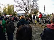Boris spreekt bij de Scholenschuif demonstratie